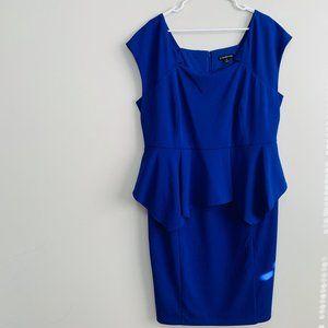 LANE BRYANT | Blue Ruffle Career Piece Dress - 20